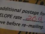 Insufficient postage
